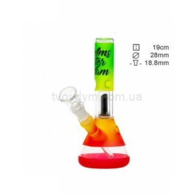Бонг скляний Amsterdam Rasta Club mini 19 см