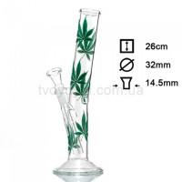 Бонг стеклянный Hangover Multi Leaf 26 см