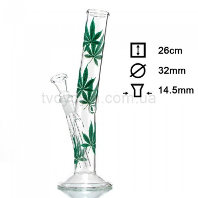 Бонг скляний Hangover Multi Leaf 26 см