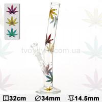 Бонг стеклянный Hangover Multi Leaf 32 см