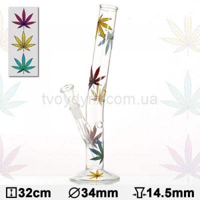 Бонг скляний Hangover Multi Leaf 32 см