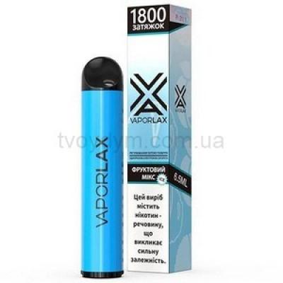 Одноразовая электронная сигарета VAPORLAX Акциз Фруктовый Микс 1800 puff